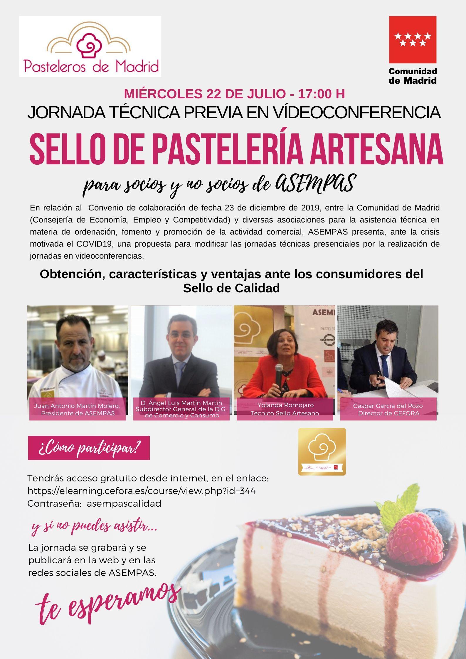JORNADA TÉCNICA SELLO ARTESANO DE PASTELERÍA
