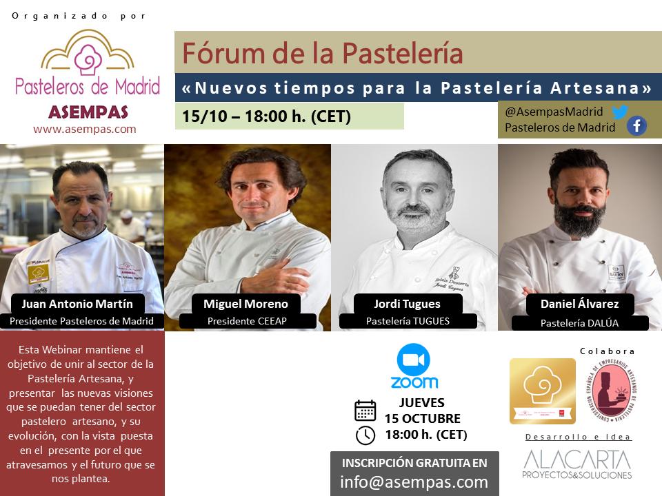 """Video de la webinar """"Nuevos tiempos para la Pastelería Artesana"""""""